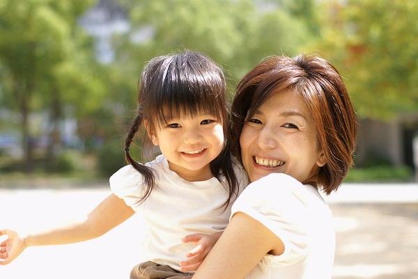 ママと子どもの笑顔