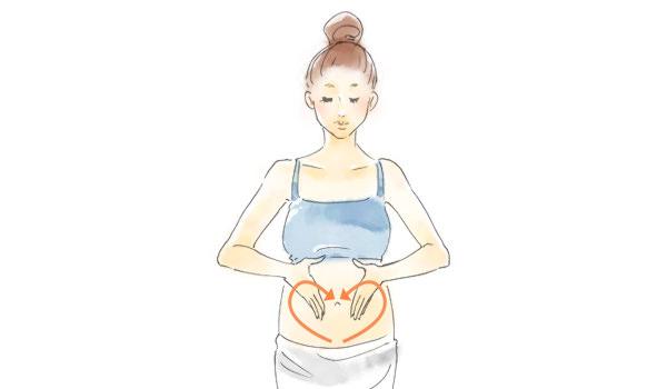 妊娠線予防マッサージイラスト4