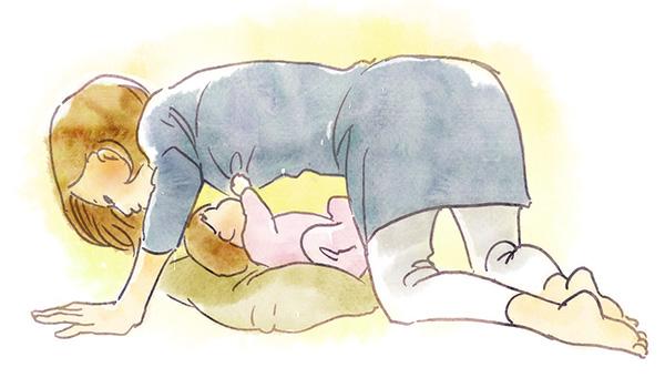四つ這い授乳