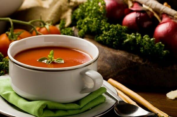 温かいスープ
